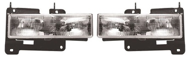 88-98 Chevy GMC Truck 2Pc Composite Head Light Set