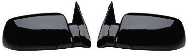 88-98 Chevy GMC Black Manual Mirror Set Fold Away