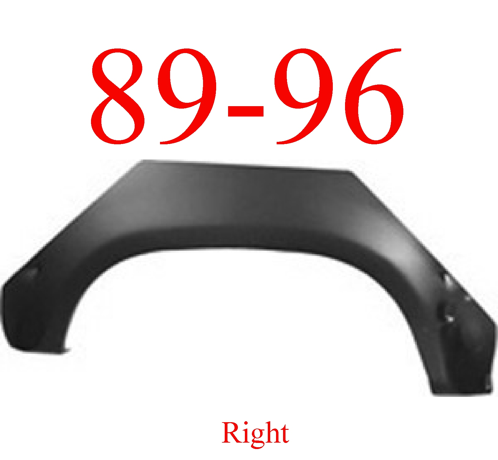 89-96 Toyota Pick Up Right Upper Arch Panel