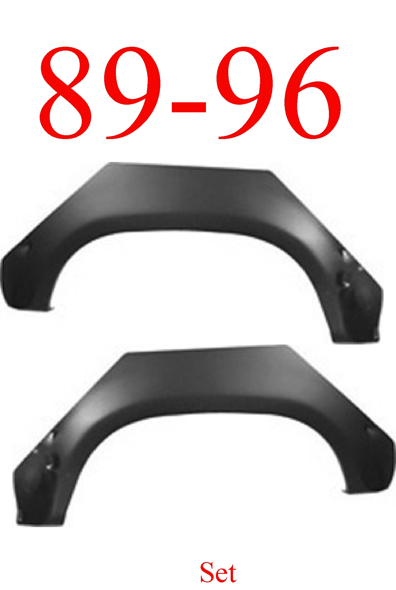 89-96 Toyota Pick Up Upper Arch Set Panel