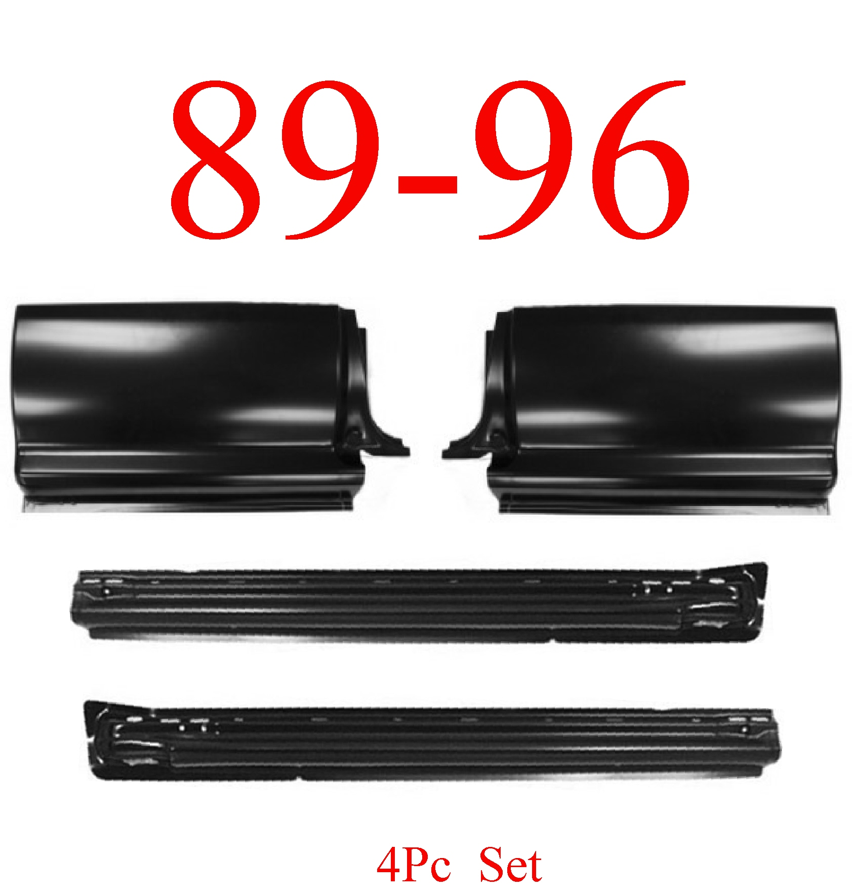 89-96 Toyota Pick Up 4Pc X-Rocker & X-Cab Corner Kit