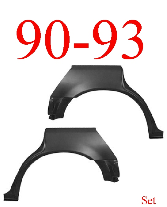 90-93 Honda Accord 4 Door Rear Upper Wheel Arch Set