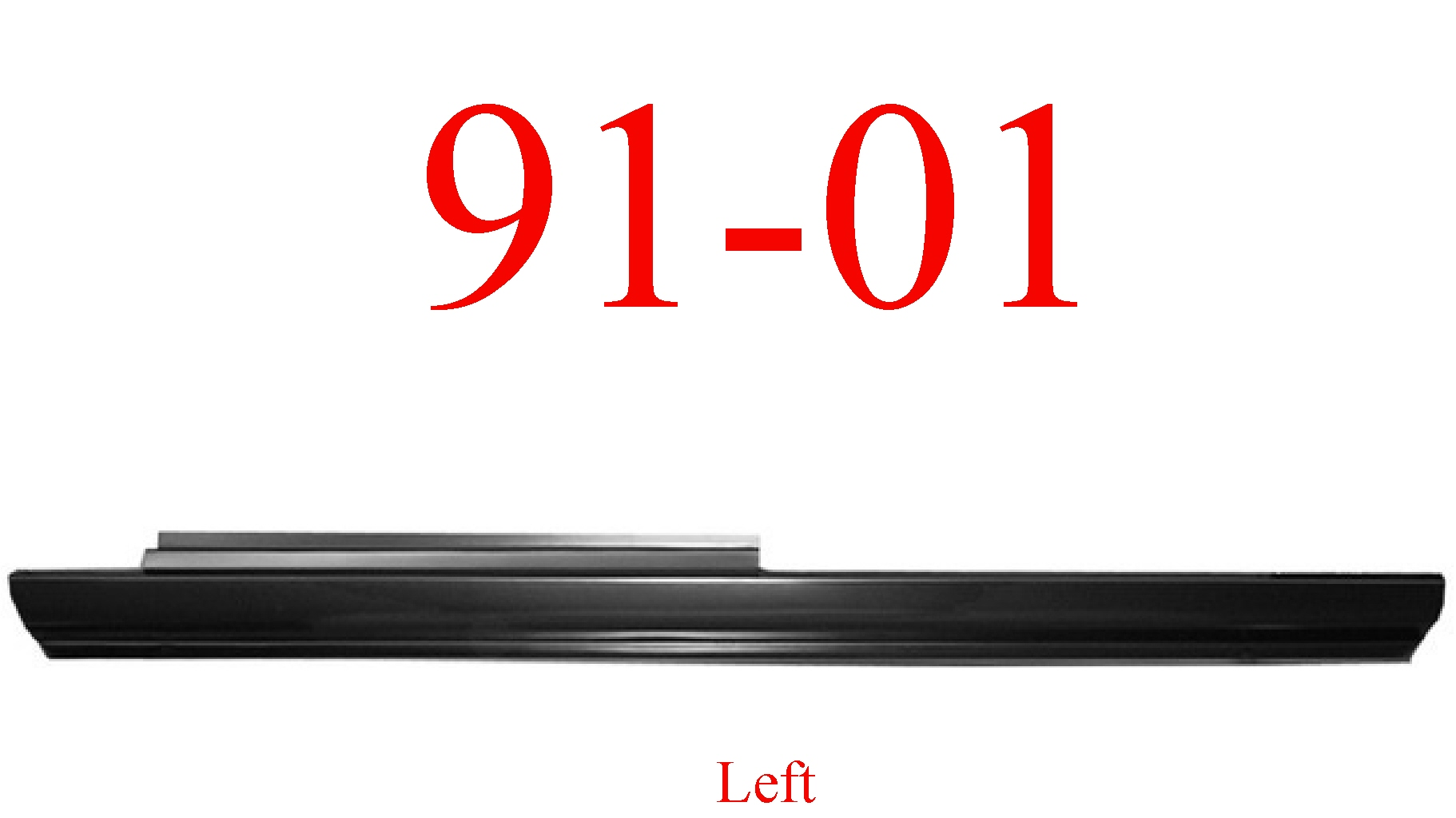 91-01 Ford Explorer Left Slip-On Rocker Panel 2 Door