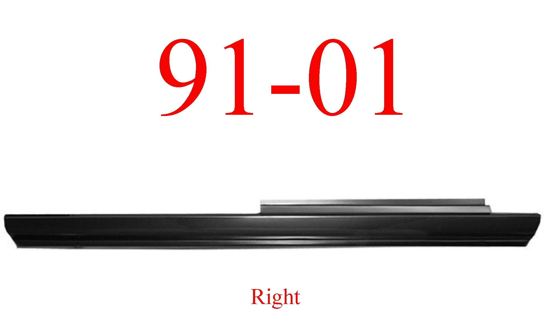 91 01 Ford Explorer Right Slip-On Rocker Panel 2Dr & 4Dr