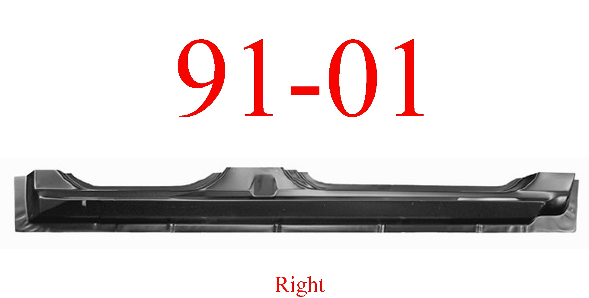 91-01 Ford Explorer Right Extended Rocker Panel 4 Door