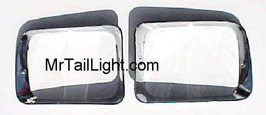 91-93 Dodge Truck Chrome Head Light Doors