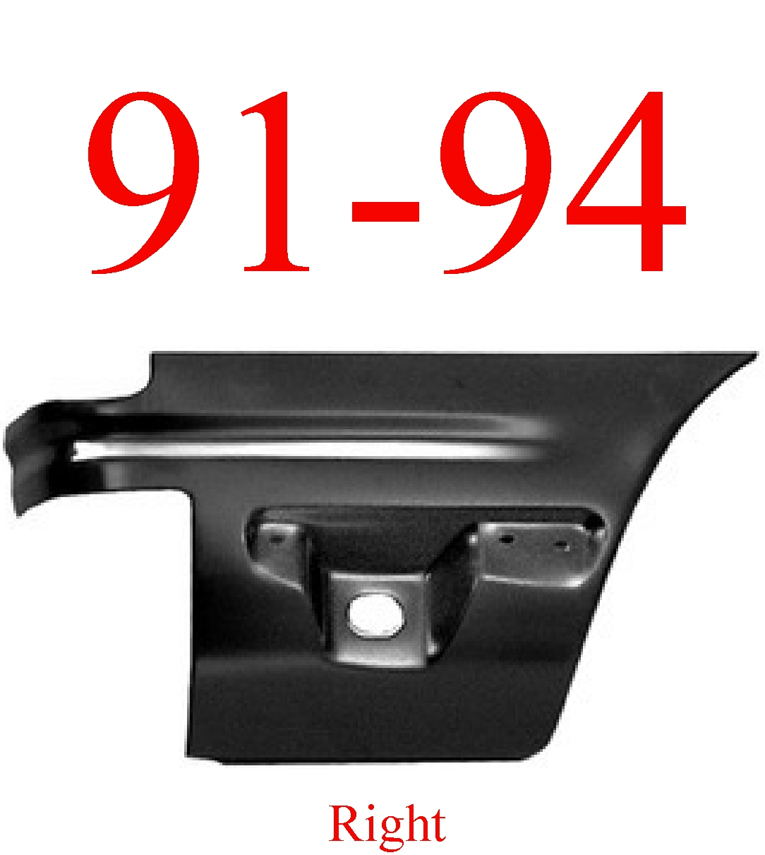91-94 Ford Explorer Right Lower Rear Quarter Panel