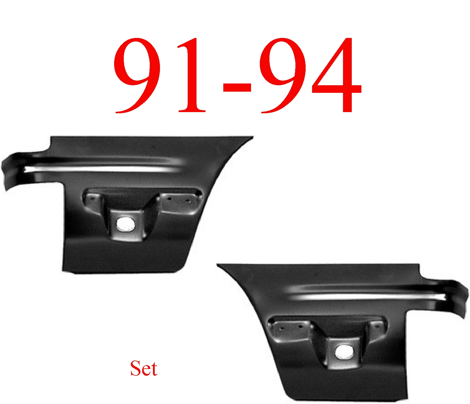 91-94 Ford Explorer Lower Rear Quarter Panel Set