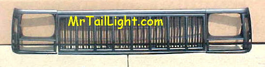 91-96 Jeep Cherokee 3Pc Black Grill Kit