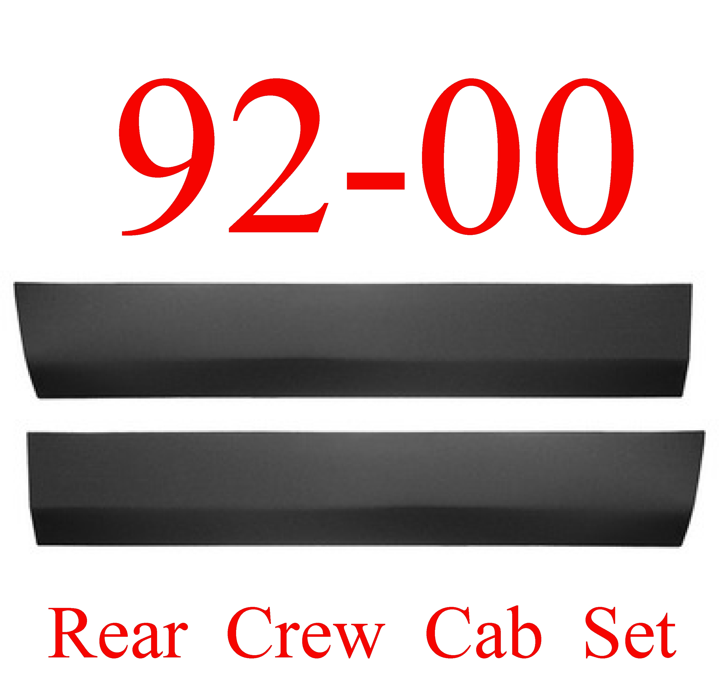 92 00 Chevy GMC Crew Cab Rear Lower Door Skin SET