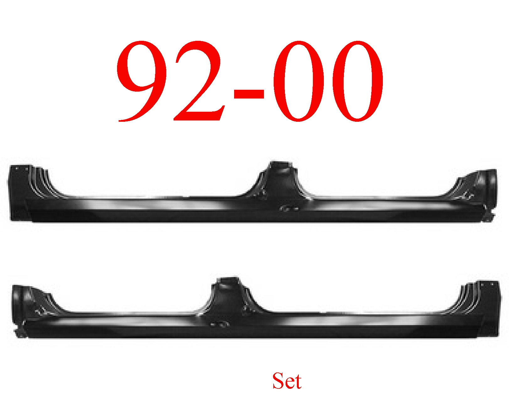 92-00 Chevy Extended Rocker Panel Set Crew Cab & Suburban