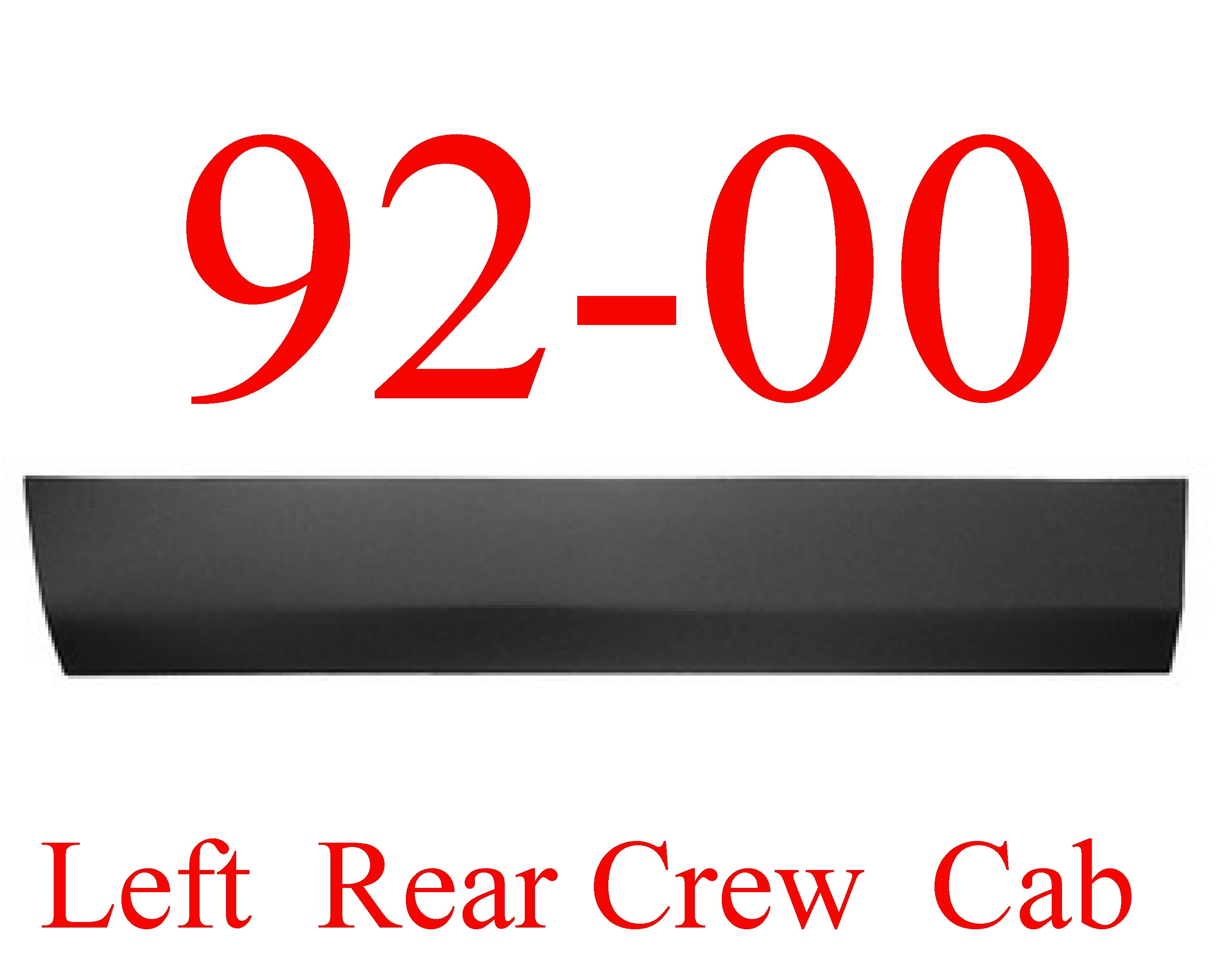 92-00 Chevy GMC Left Rear Crew Cab Lower Door Skin
