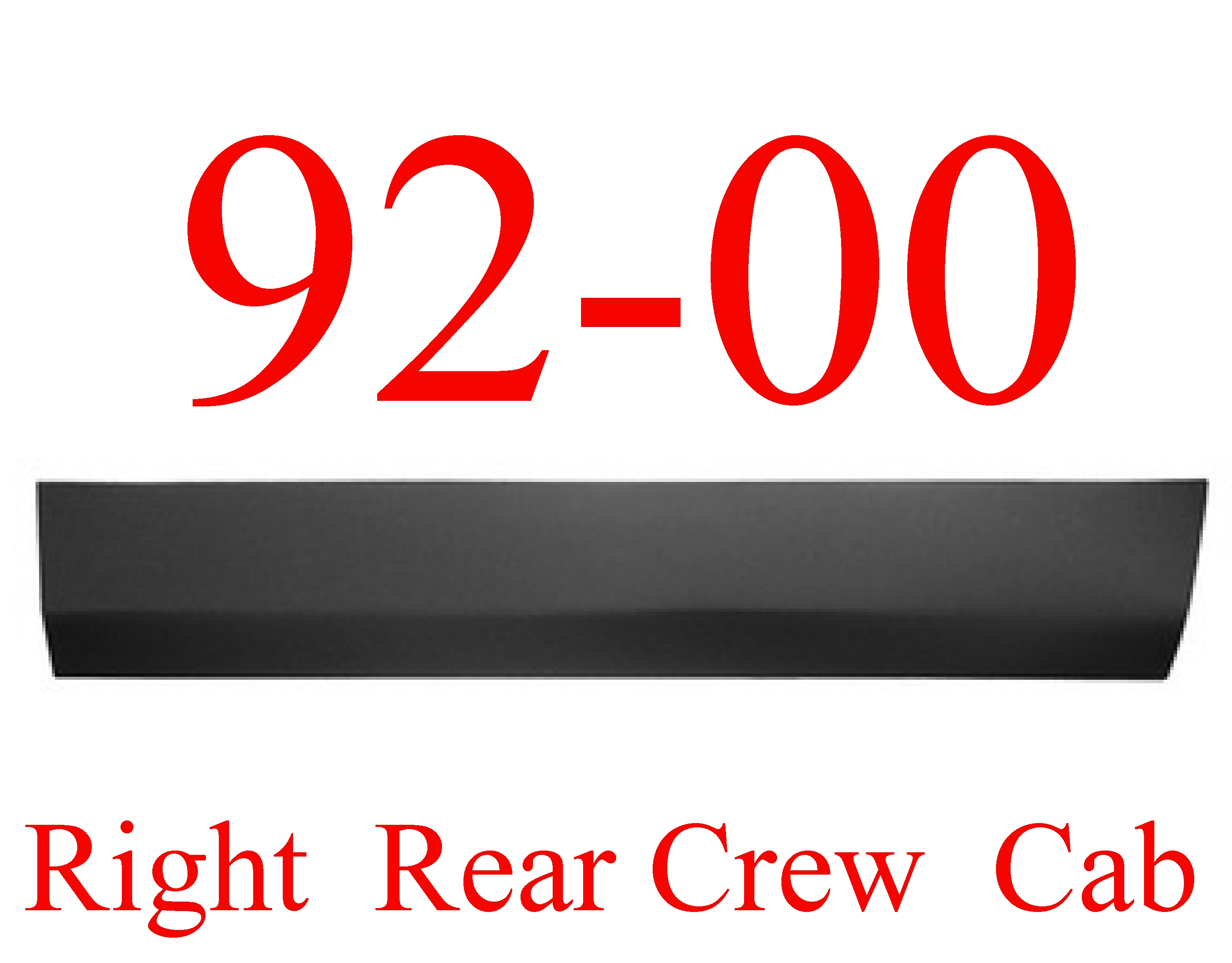 92-00 Chevy GMC Right Rear Crew Cab Lower Door Skin