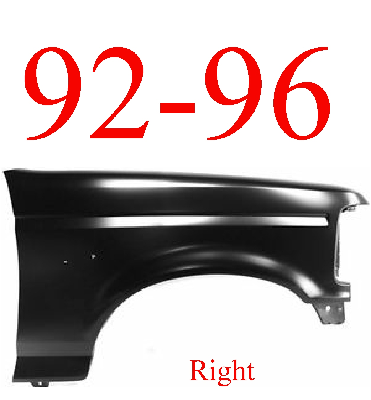 92-96 Ford Right Fender 97 98 F450