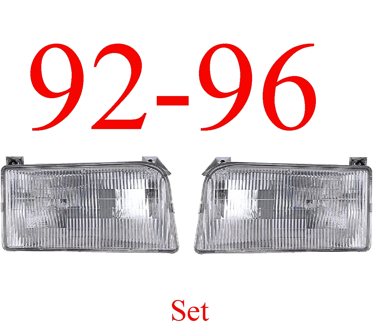 92-96 Ford Truck & Bronco Head Light Set