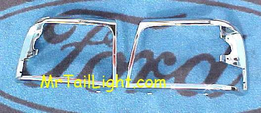 92-96 Ford Truck & Bronco Chrome Head Light Door Set