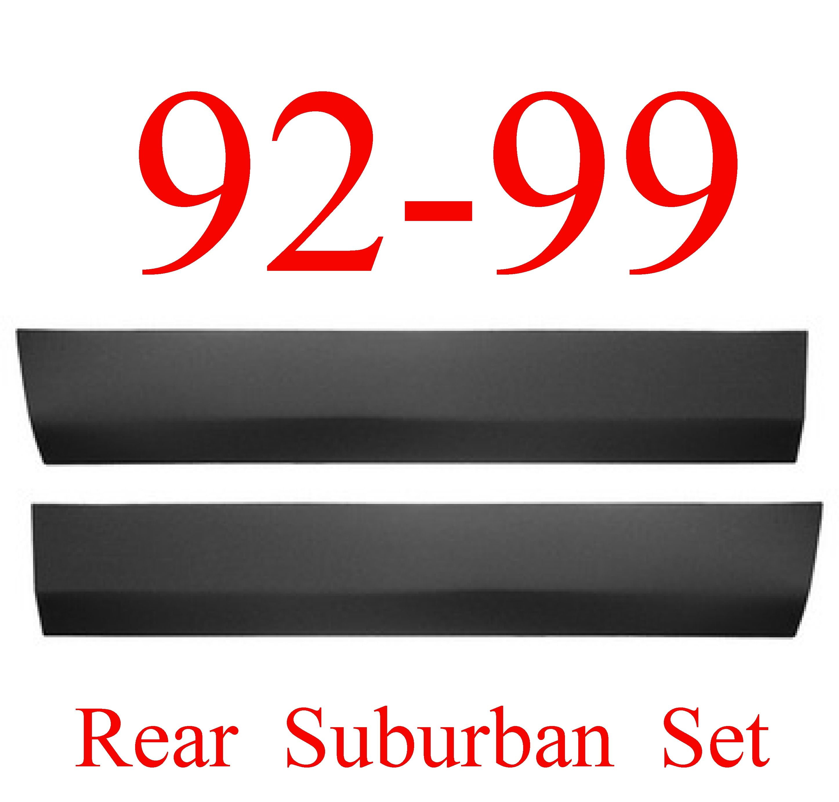 92-99 Chevy Suburban Rear Lower Door Skin SET