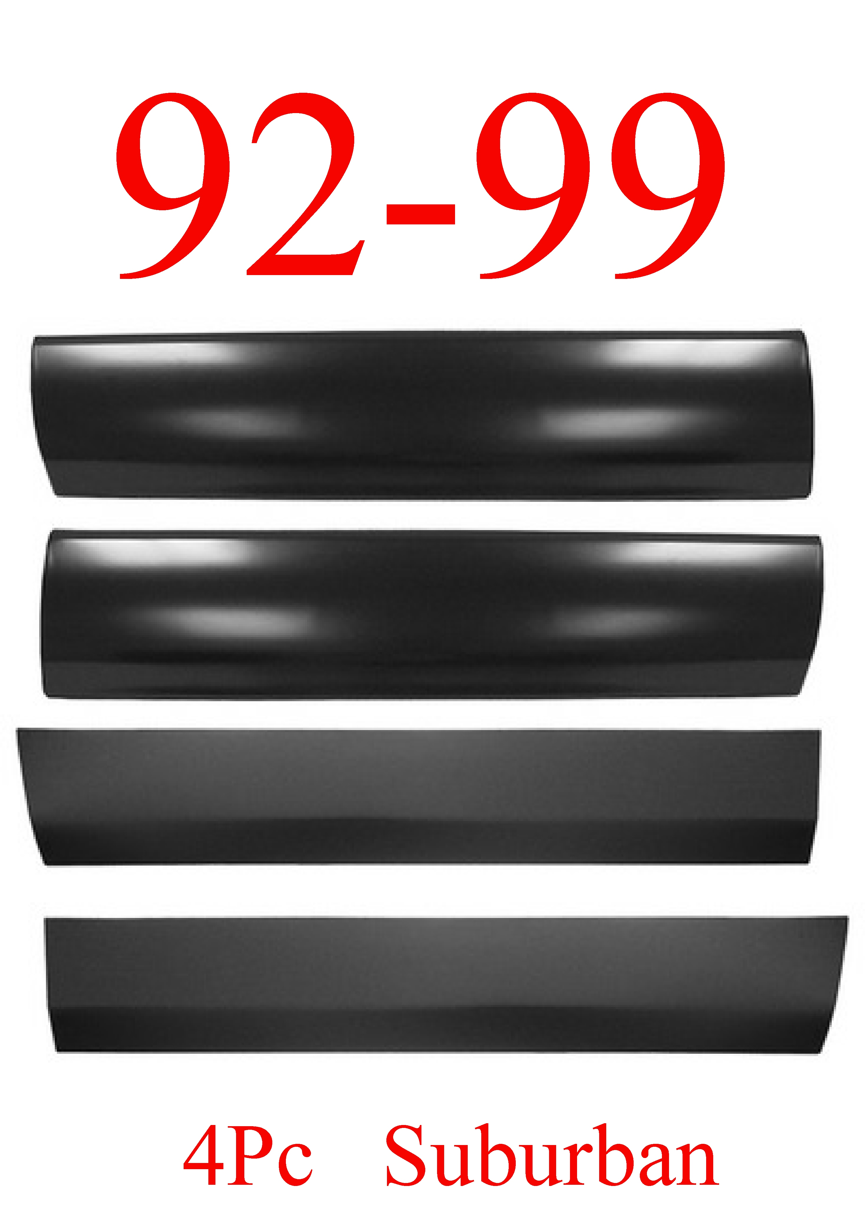 92-00 Chevy GMC Suburban 4Pc Lower Door Skin SET