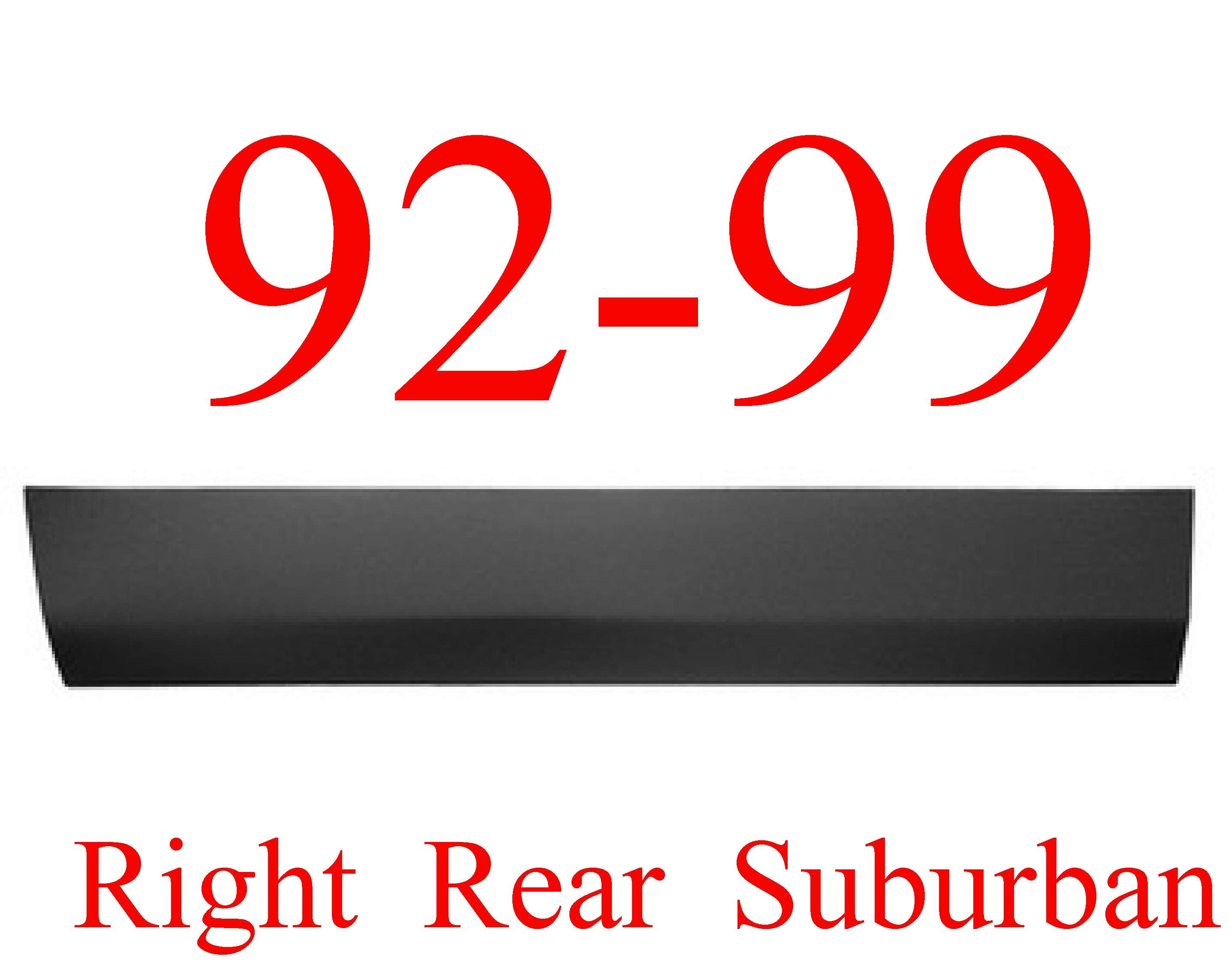 92-99 Chevy GMC Suburban RIGHT Rear Lower Door Skin