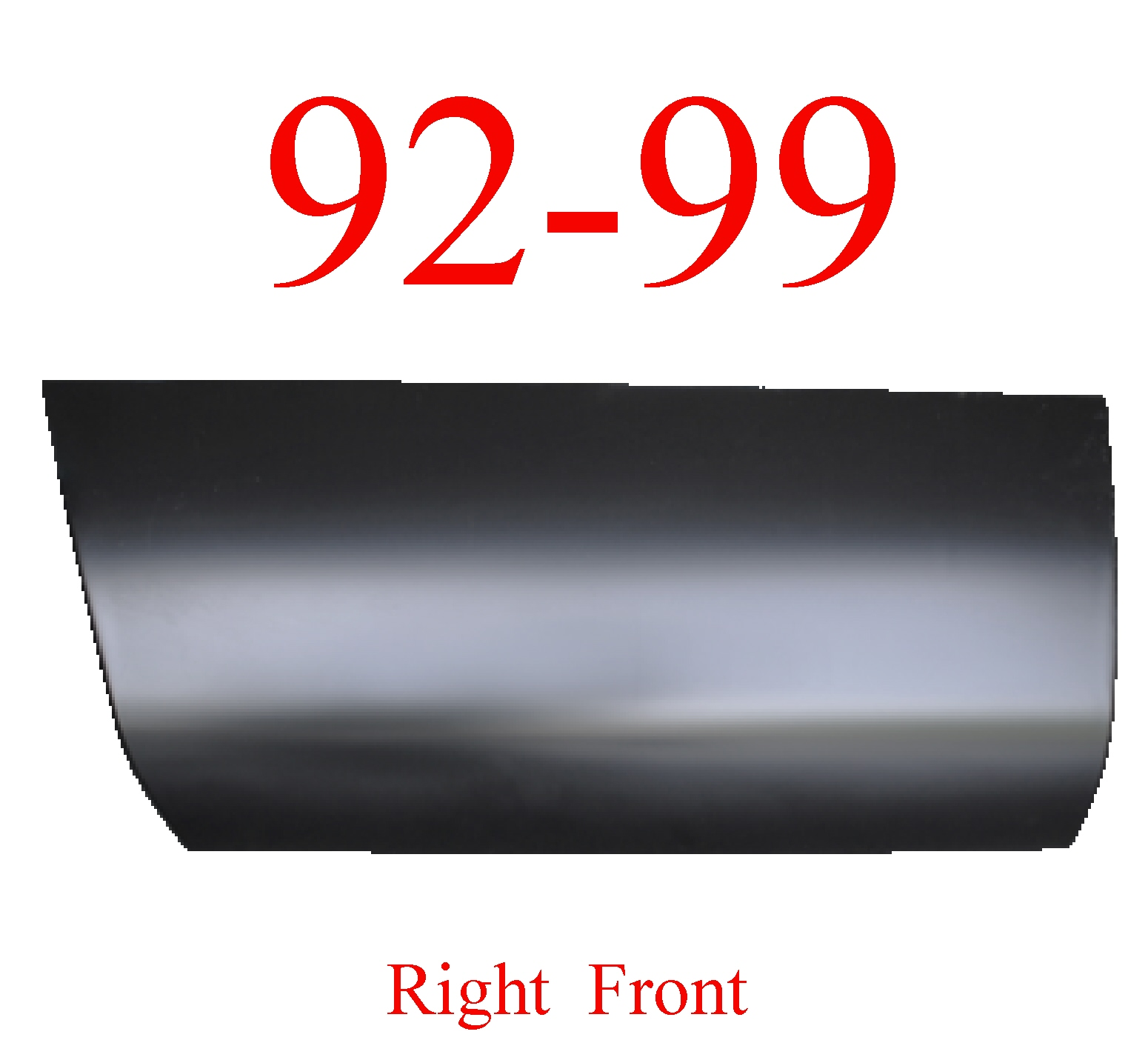 92 99 Tahoe Yukon Right Front Quarter Panel, 2 Door