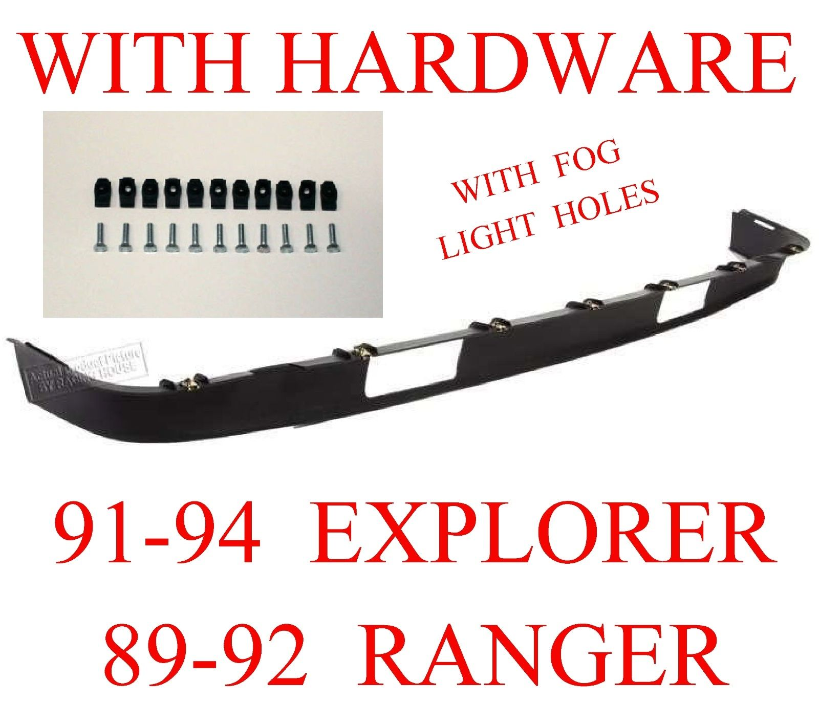 91-94 Explorer Lower Valance With Holes W Hardware