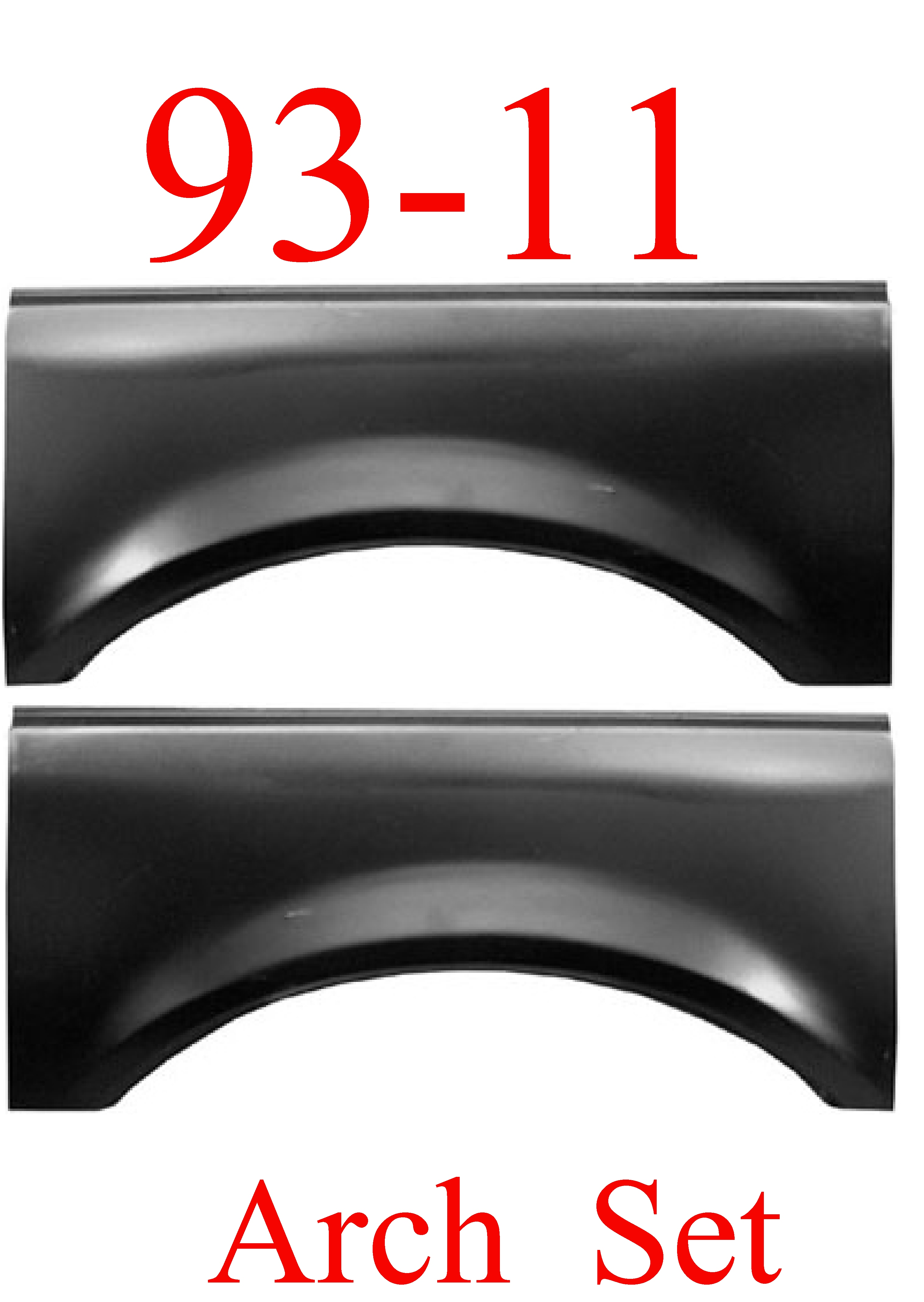 93-11 Ford Ranger Upper Arch Set