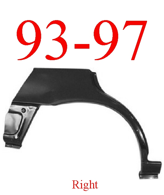 93-97 Toyota Corolla 5 Door Hatchback Right Upper Wheel Arch