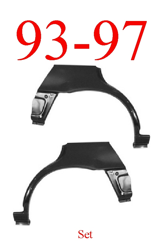 93-97 Toyota Corolla 5 Door Hatchback Upper Wheel Arch Set