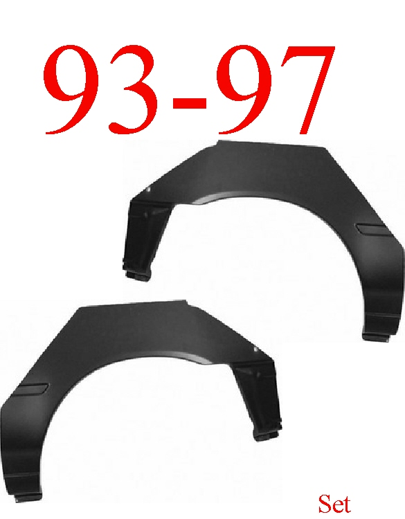 93-97 Toyota Corolla Hatchback Upper Wheel Arch Set