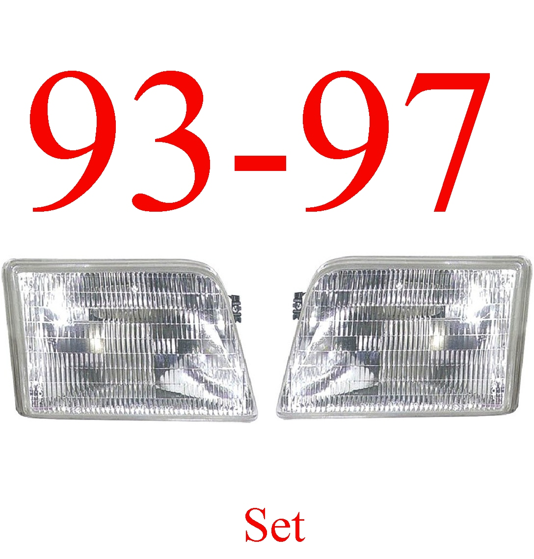 93-97 Ranger 2Pc Head Light Kit