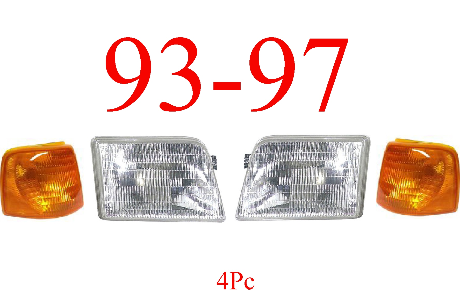 93-97 Ranger 4Pc Head Light Kit