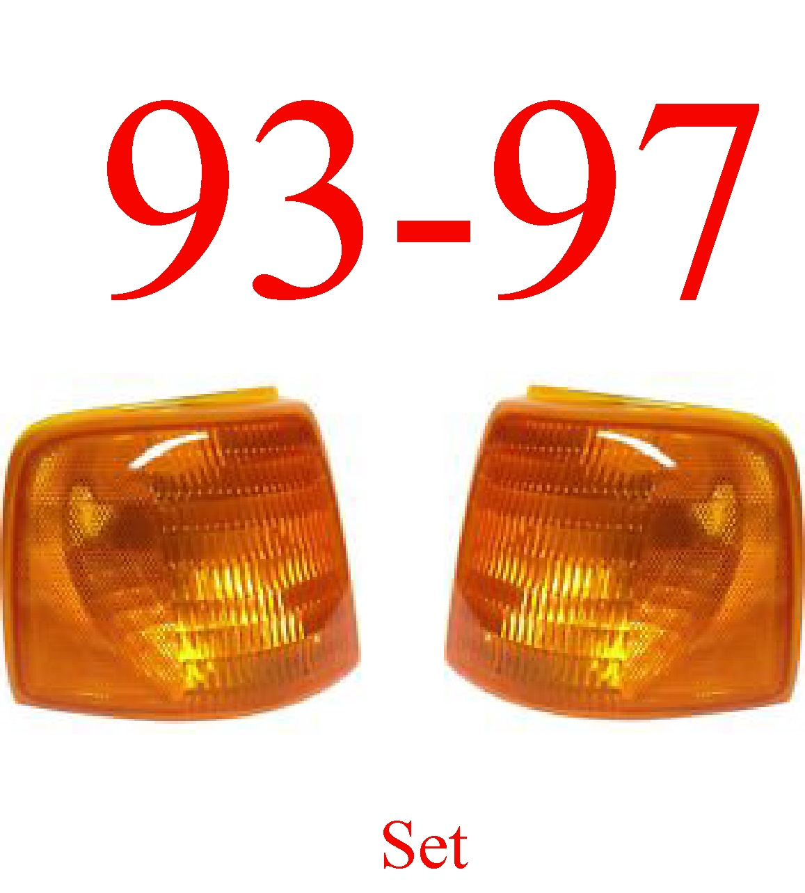 93 97 Ford Ranger 2pc Side Marker Light Kit