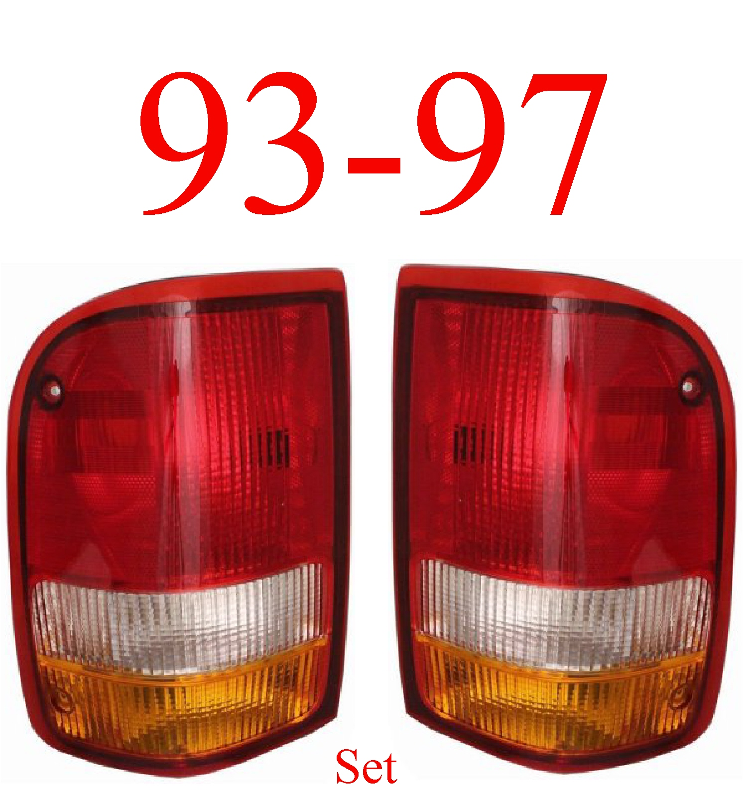 93-97 Ford Ranger 2Pc Tail Light Set