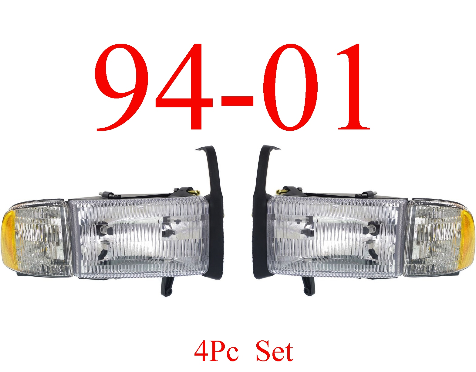 94-01 Dodge Ram Head Light Set