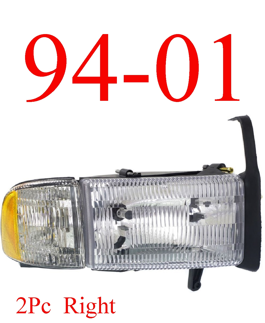 94-01 Dodge 2Pc Right Head Light Assembly