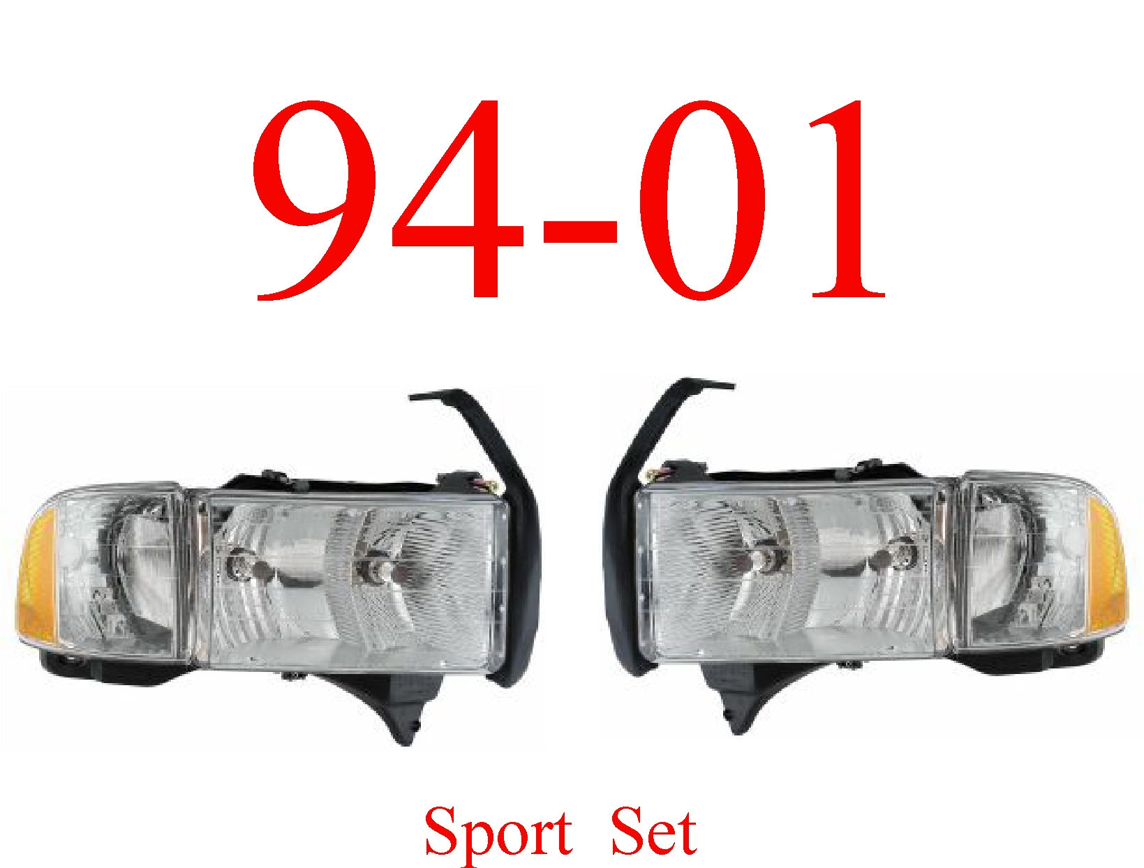94-01 Dodge Sport Head Light Set
