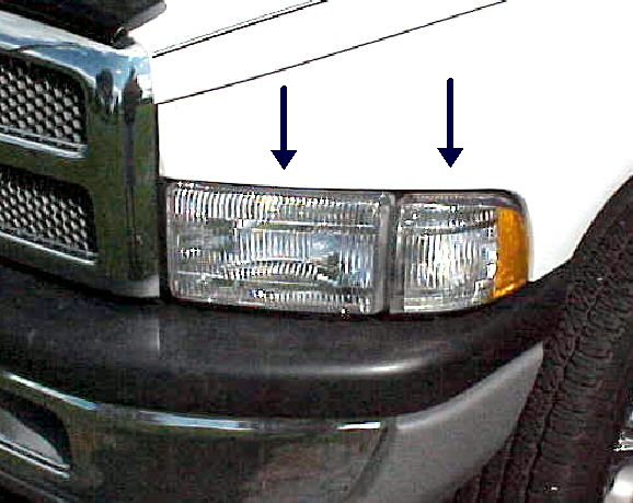 94-01 Dodge 2Pc Left Head Light Assembly