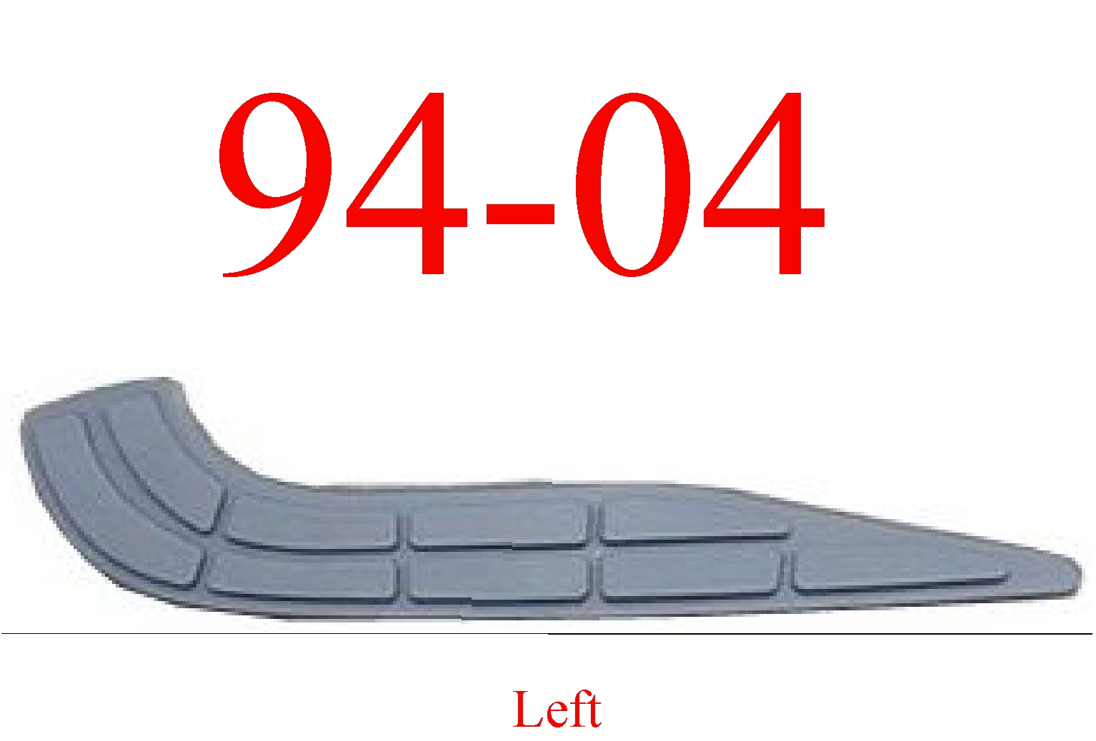 94-04 Chevy S10 Left Rear Step Bumper Pad