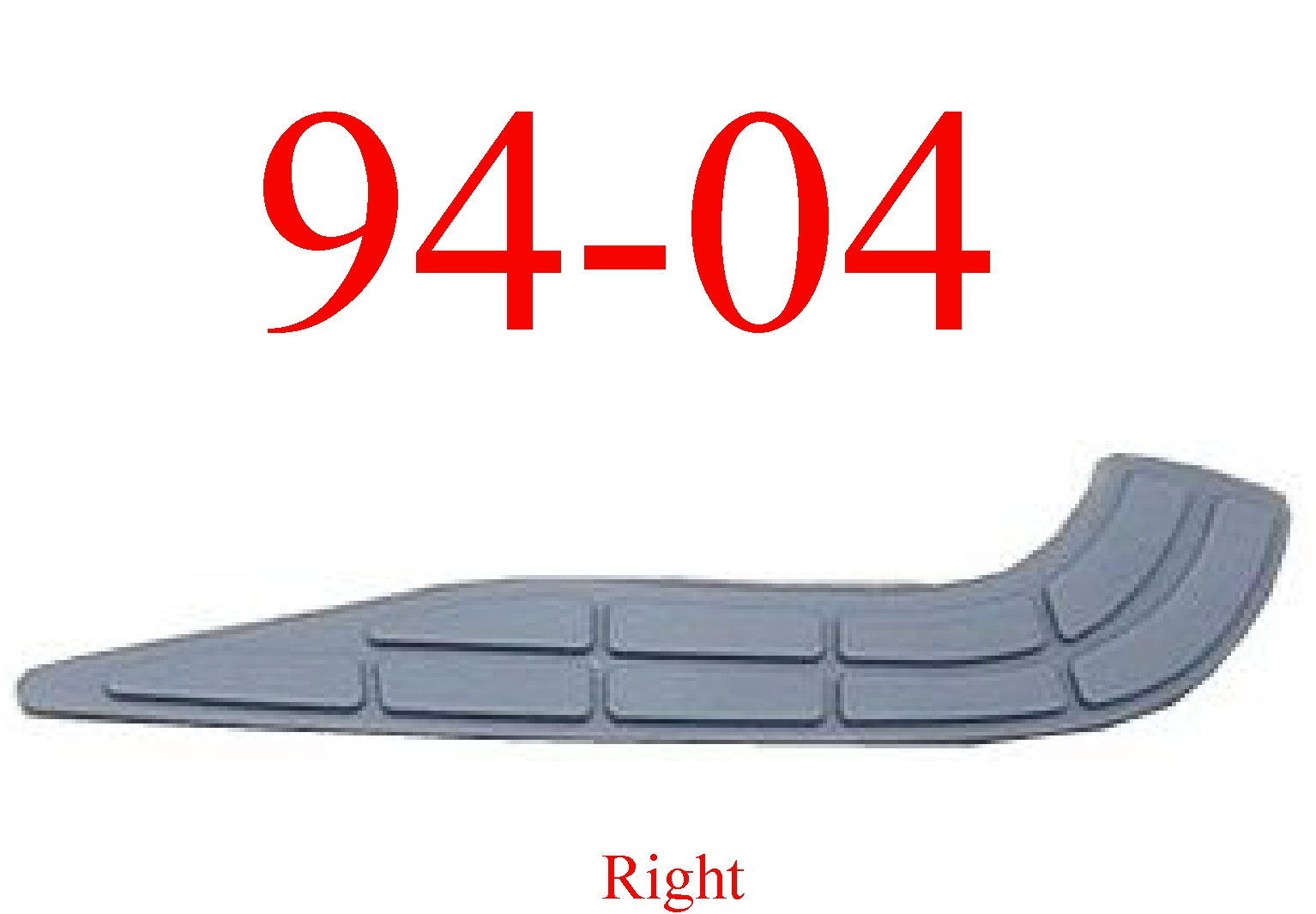 94-04 Chevy S10 Right Rear Step Bumper Pad