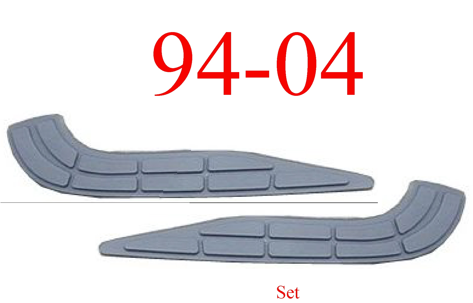 94-04 Chevy S10 Rear Step Bumper Pad Set
