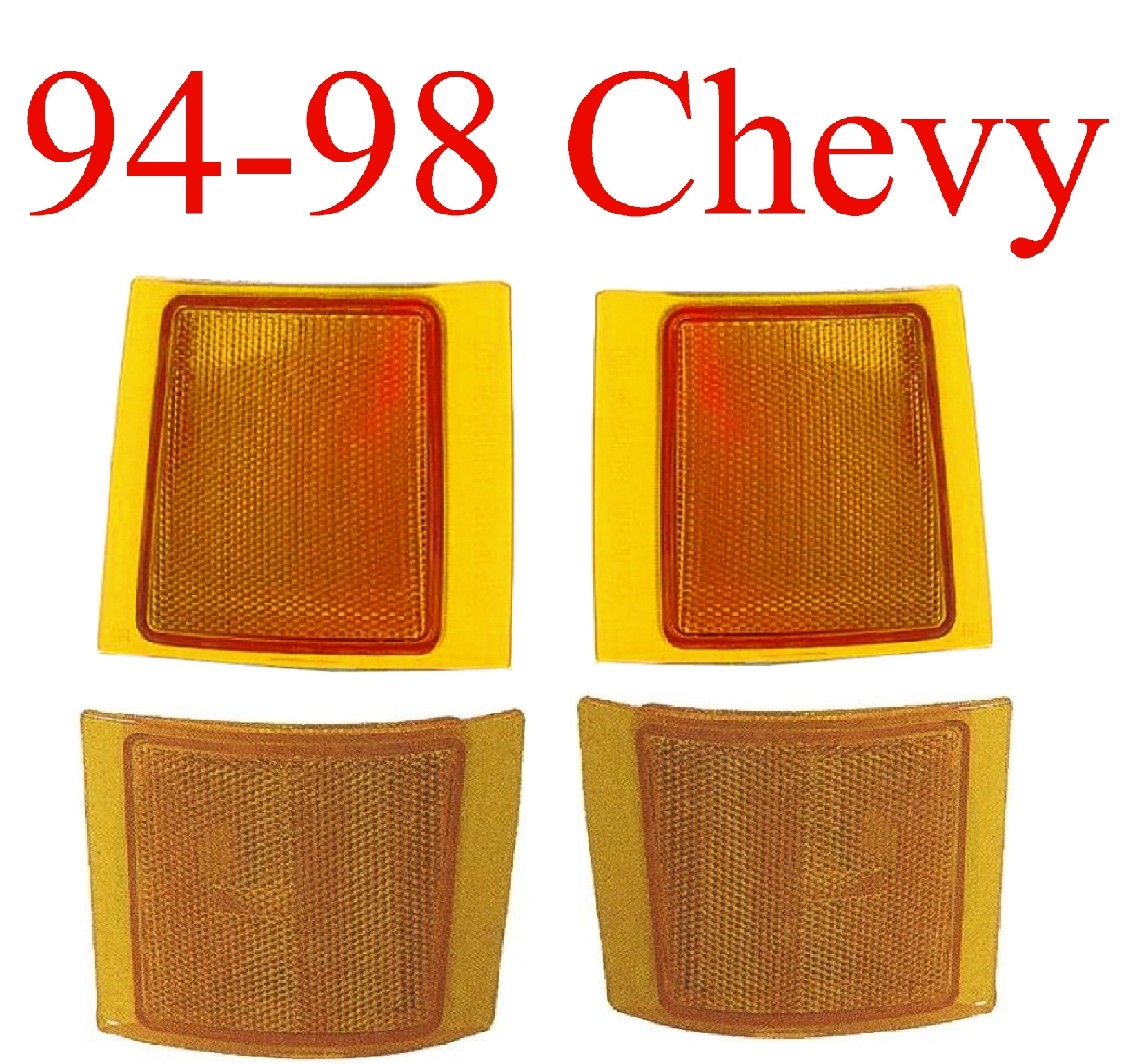 94-98 Chevy 4Pc Amber Side Light Kit