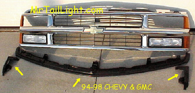 94-98 Chevy & GMC Truck 3Pc Center Filler Kit