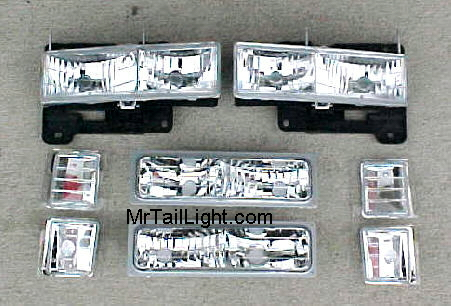 94-98 Chevy 8Pc Diamond Head Light Kit
