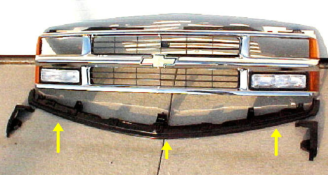94 98 Chevy & GMC Center Bumper Filler