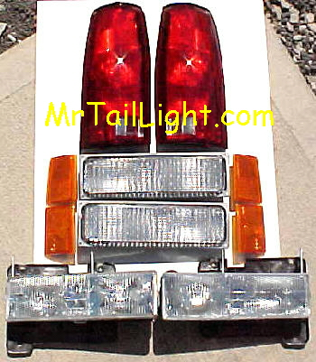 88-93 Chevy 10Pc Light Kit Front & Rear