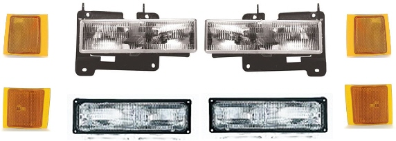94-98 Chevy Truck 8Pc Head Light Kit