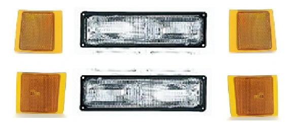 94-98 Chevy Truck 6Pc Front Light Kit