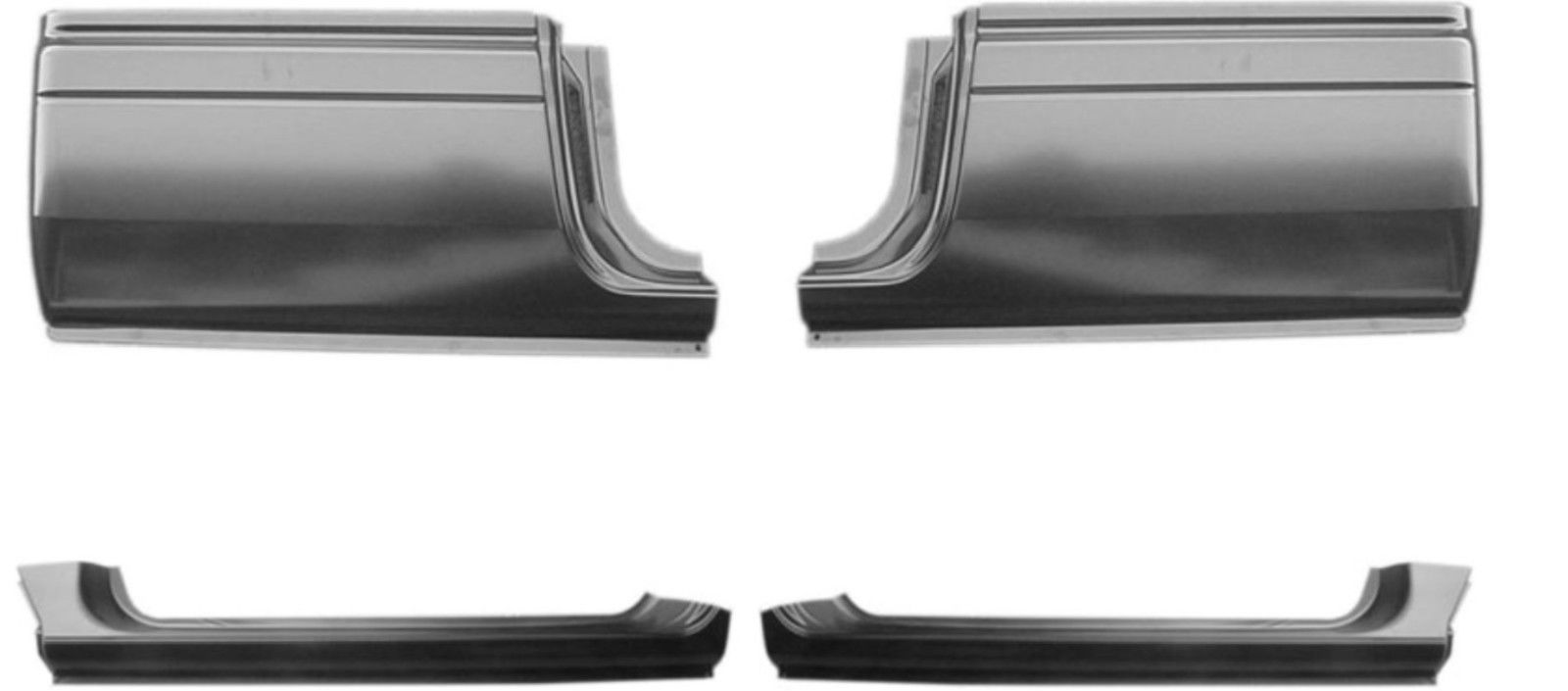94-01 Dodge Ram 4Pc Extended Rocker & Extended Cab Kit