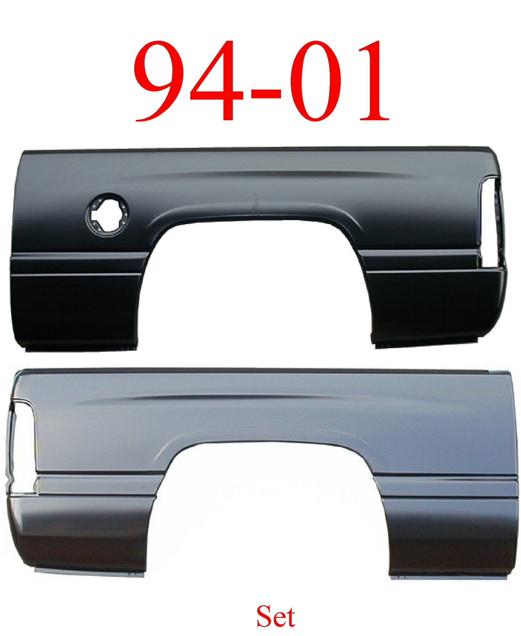 94-01 Dodge Ram 6' Short Bed Side Set, Both Sides
