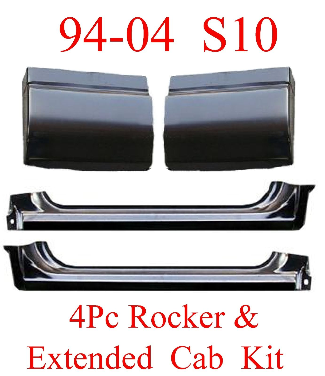 94-04 Chevy S10 4Pc Extended Cab & Rocker Kit